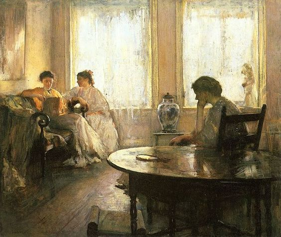 Edmund C. Tarbell (1862- 1938), Three Girls Reading, 1907