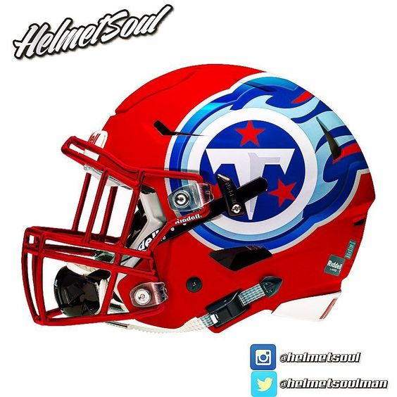 Tennessee Titans Red Concept design football helmet