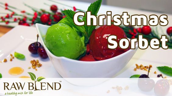 How to Make Christmas Sorbet in a Vitamix 5200 Blender by Raw Blend