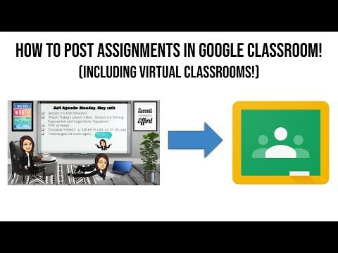 How To Post Assignments In Google Classroom Youtube In 2020 Google Classroom Classroom Classroom Banner