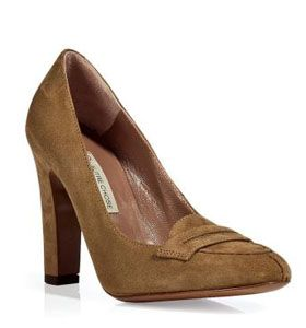 Tobacco Suede Pumps