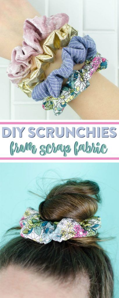 DIY Scrunchies - a great DIY hair accessory from scrap fabric