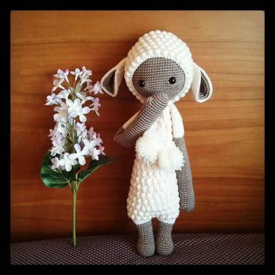 LUPO the lamb made by TatisAtis / crochet pattern by lalylala