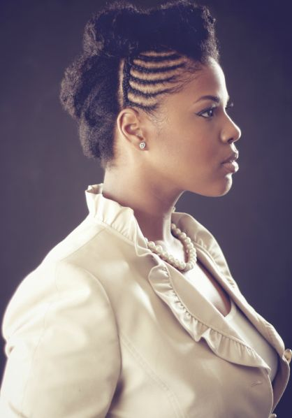 Natural Hairstyle braids #NaturalHairstyles #NaturalHair