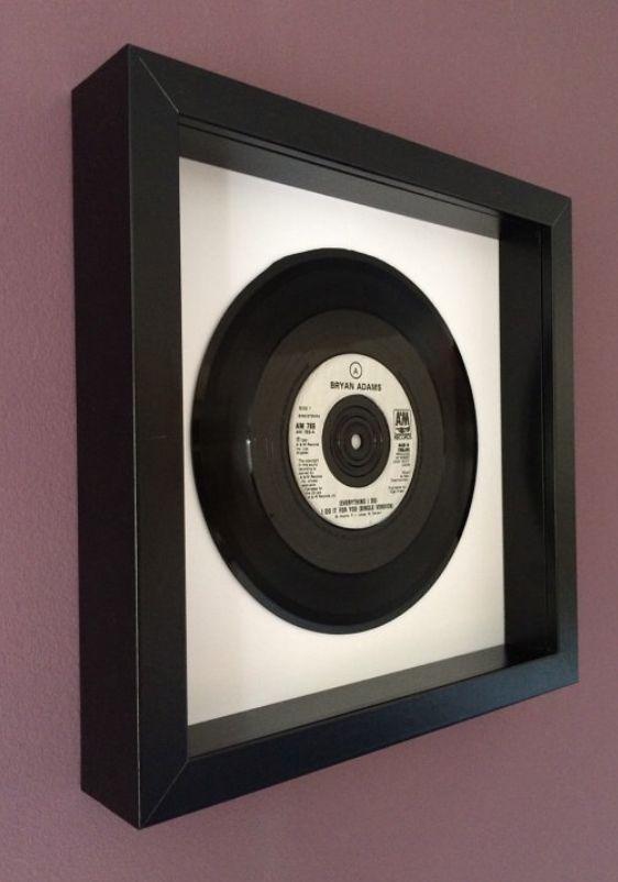 Bryan Adams Everything I Do I Do It For You Framed Vinyl Record Vinyl Gifts Framed Records Vinyl