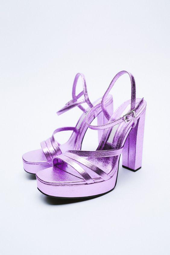 Strappy Platform Sandals Zara