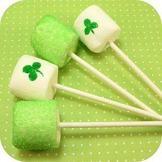 Marshmallow green pops!