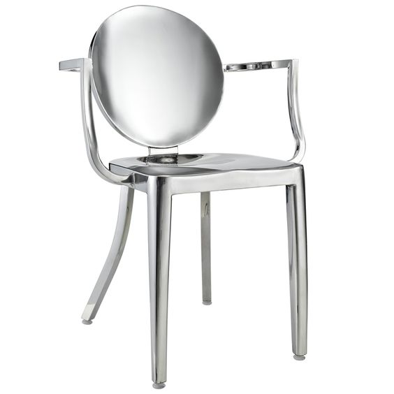 Stainless Steel Carson Arm Chair