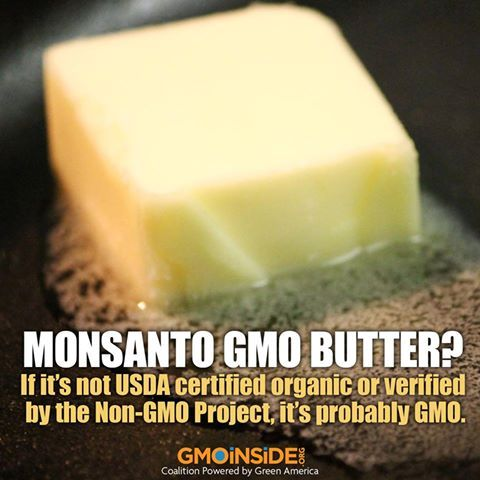 Are you eating Monsanto GMO butter? Learn more here: http://gmoinside.org/cant-believe-butter