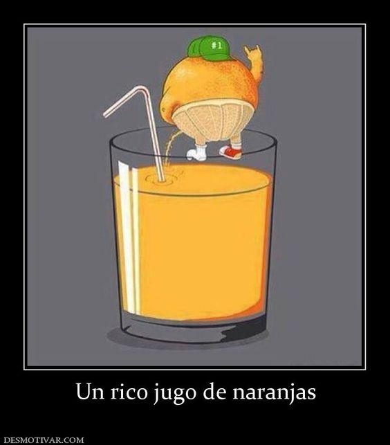 Un rico jugo de naranjas