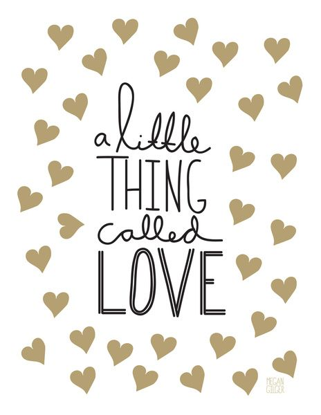 A Little Thing Called Love Art Print: