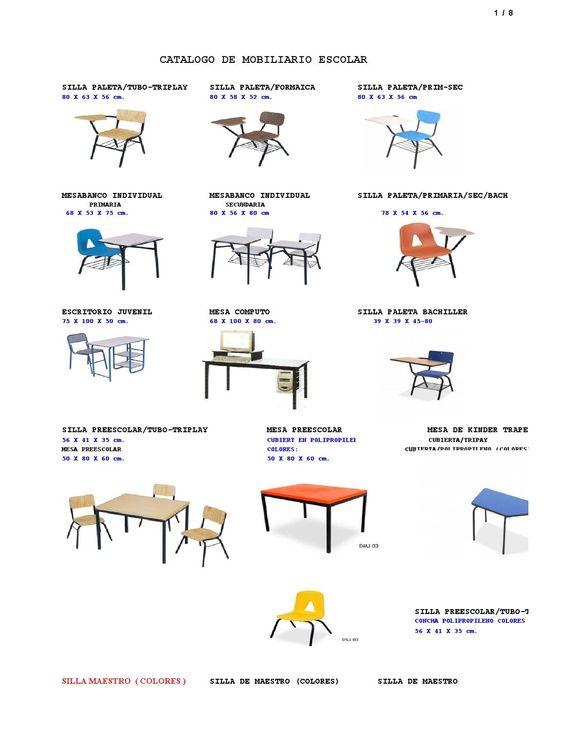 Catalogo de mobiliario imagenes mobiliario for Mobiliario escolar medidas
