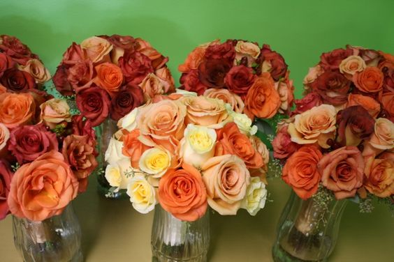 Peach Orange Burnt Orange Wedding Colors I Adore This Color Scheme For Fall Weddings