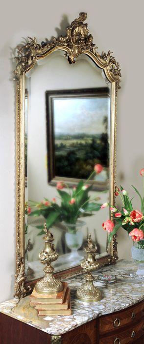 Antique Louis Xv Gilded Mirror Gilded Mirrors Inessa