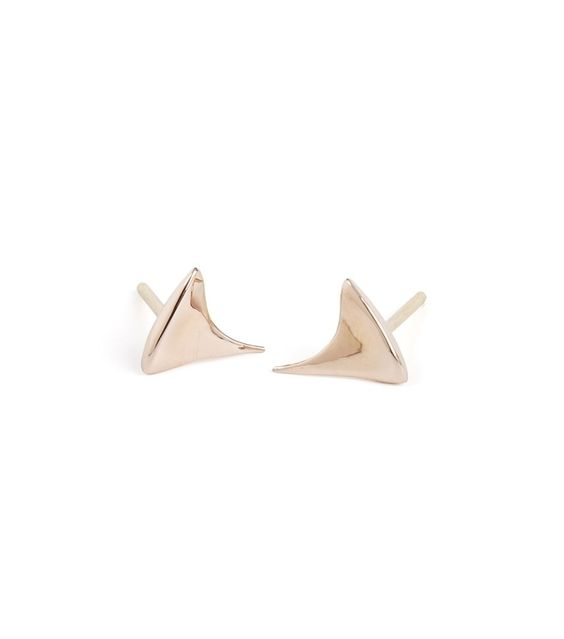 Catbird::shop by category::JEWELRY::Earrings::Rose Thorn Stud, rose gold