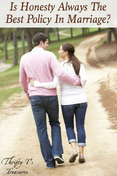 A great marriage is not perfect but one that takes work. Stop by and find out what we've learned about honesty in our nearly nine years of marriage.