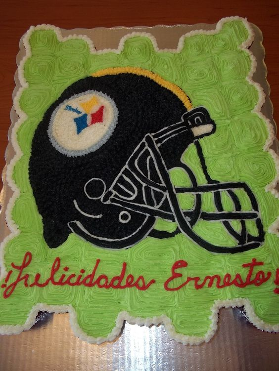 football americano casco pasteles and cupcakes decorados: