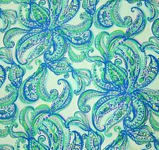 Lilly Pulitzer Poolside Blue Cotton Dobby Keep It Current Fabric 1 Yard