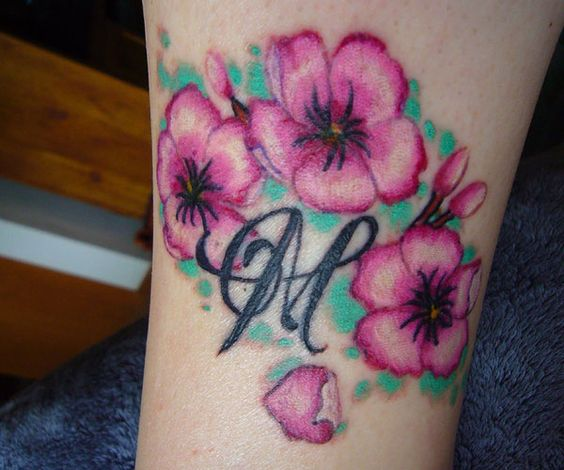 Japanese Flower Tattoos   25 Amazing Japanese Cherry Blossom Tattoo Designs - SloDive