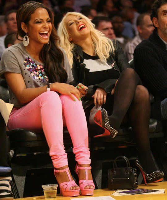Pause...Where did Christina Milian get those Pink YSL Tribute sandals