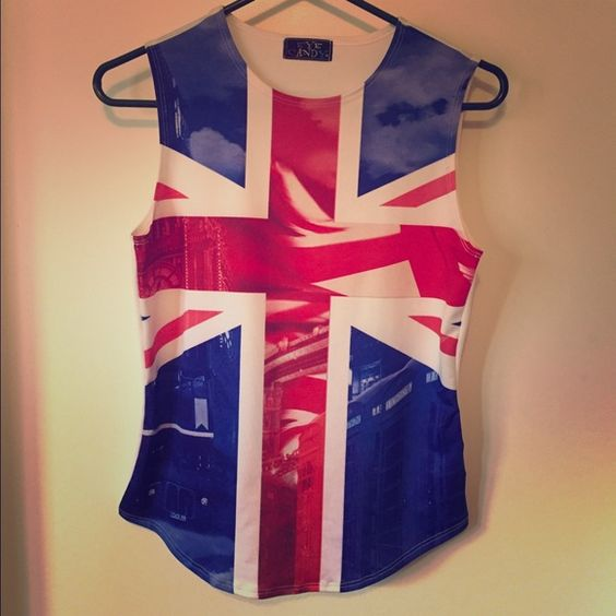 🇬🇧 Union Jack Tank 🇬🇧 Cute tank! Can be worn alone or under a denim jacket! Eye Candy Tops Tank Tops