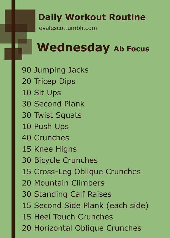 Wednesday Routine