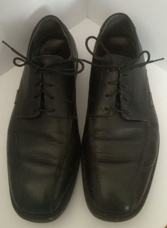 Mephisto Air Relax Men's Black Leather Shoes Size 12 - Oxfords Goodyear Welt #Mephisto #Oxfords