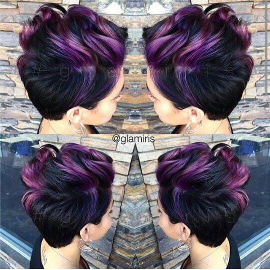 Purple hair #thecutlife