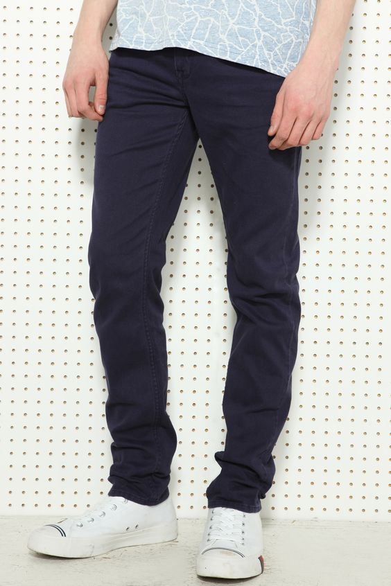 Farah Vintage Dark Indigo Five Pocket Trousers at Urban Outfitters (£50)