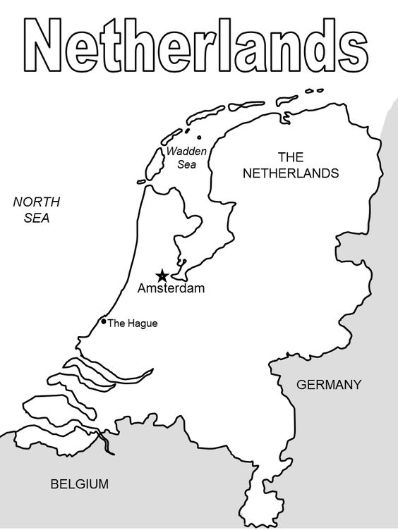 Netherlands Map Netherlands And Print Coloring Pages On