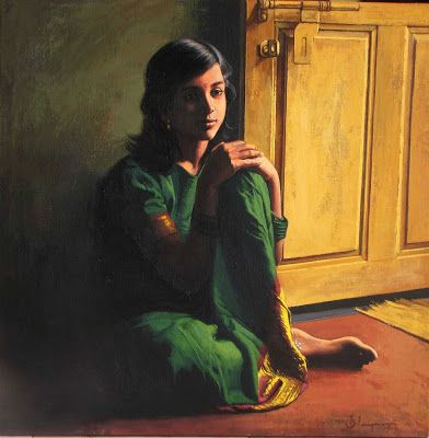 dravidian woman beautiful oil paintings | Cute Pictures Latest Hot Photo Gallery