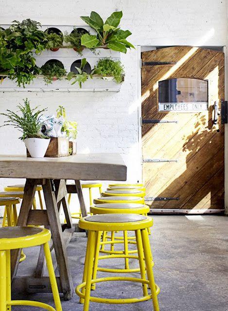 Un bar à jus de fruits à New-York