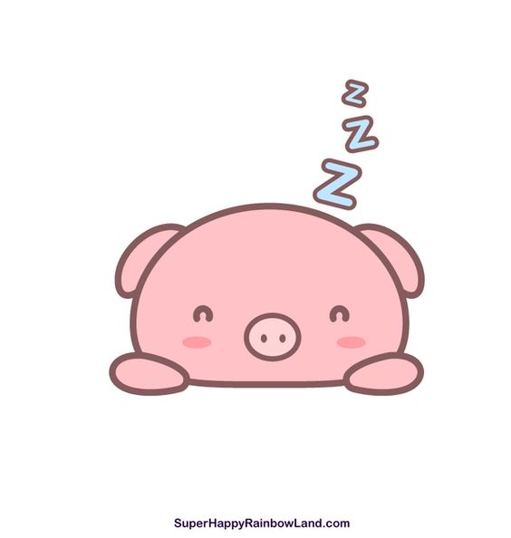 Sleepy Piggy by sh-rainbowland.deviantart.com on @DeviantArt