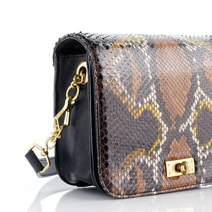 Mini Edie purse in python- i have never liked anything snake skin before