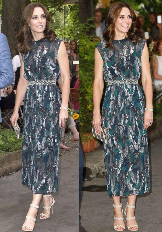 Dress Kate Middleton yang dipakai saat tour ke Jerman.