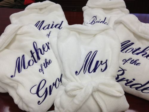 White Spa Robe - Multiple Sizes, Perfect Bridal Party Gift!