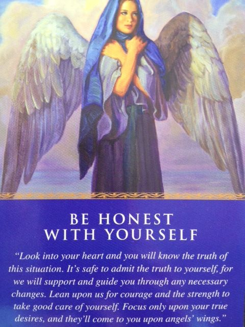 Image result for be honest with yourself angel card