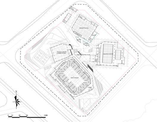 Centro Esportivo de Beijiao,Pavimento Superior