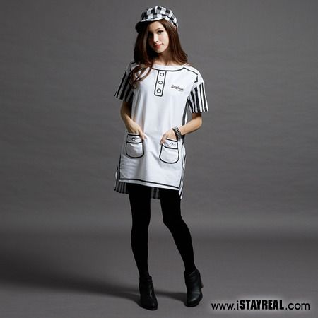 British Mod Splice Dress 英倫摩德拼接洋裝 - STAYREAL線上商店 - 台北市5小時、全台灣24小時快速到貨 - STAYREAL