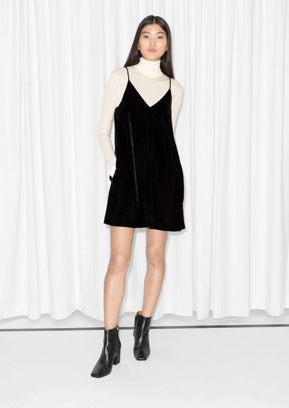 & Other Stories | Strap Velvet Dress