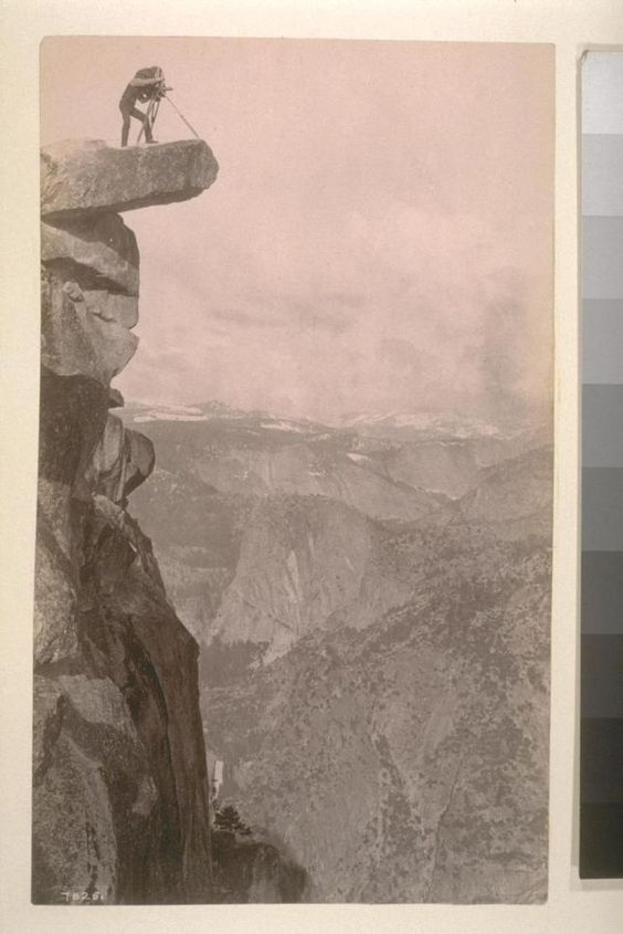 Unidentified photographer, Overhanging Rock, Yosemite Valley. Photo Credit: UC Berkeley, Bancroft Library