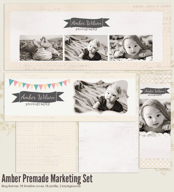 Amber Premade Photography Marketing Set by 7thavenuedesigns, $35.00