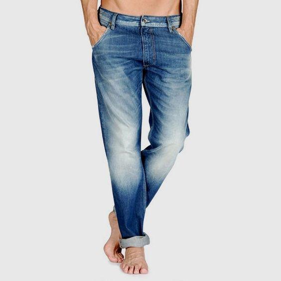 DIESEL KROOLEY Mens 0880E Regular Slim Carrot Fit Jeans In light Wash BNWT #DIESEL #SlimSkinny