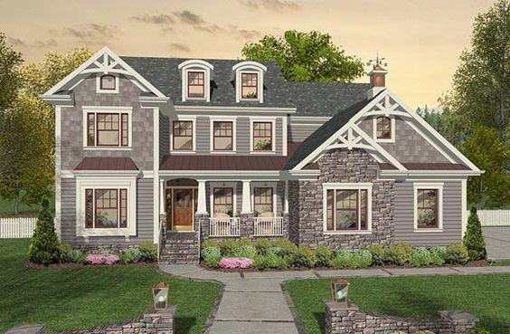 Craftsman Farmhouse House Plan 93496