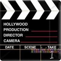 Hollywood 'Director's Cut' Extra Large Square Paper Plates (8ct)