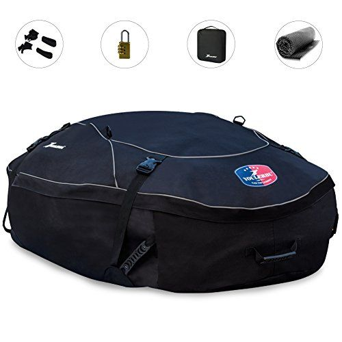 Youlerbu Waterproof Roof Cargo BagSoft Car Top Carrier With Free Mat And Lock