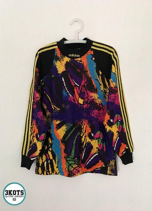 ADIDAS Vintage 90´s Vintage Goalkeeper Football Shirt S/M Soccer ...