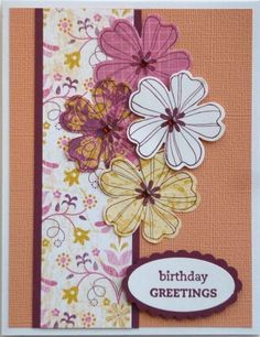 Card making kit 5 Birthday Thanks Sympathy Get Well Thinking of You Stampin' Up!