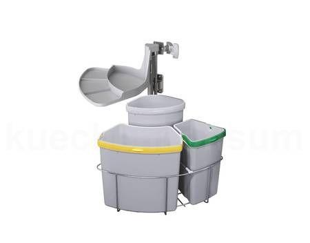 Abfallcenter 3 Schwenkeimer Mülleimer Abfalleimer Abfallsammler Abfalltrennung