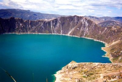 Lake in a crater, Quilatoa, Ecuador